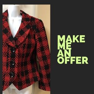 Blazer in Red and Black Plaid by Coldwater Creek